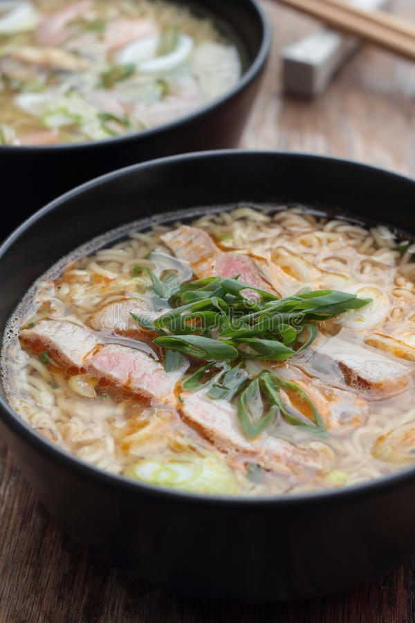 Oriental soup. royalty free stock images