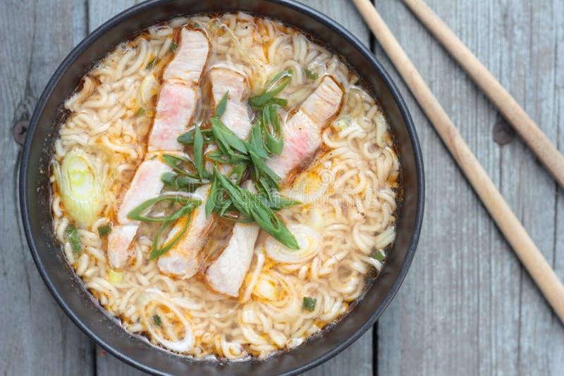 Oriental soup. royalty free stock photo