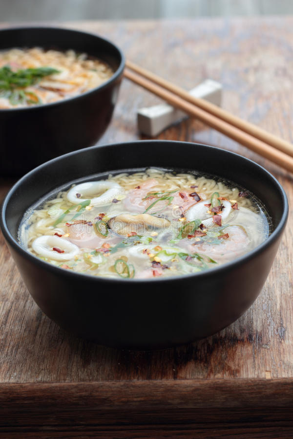 Oriental soup. royalty free stock image