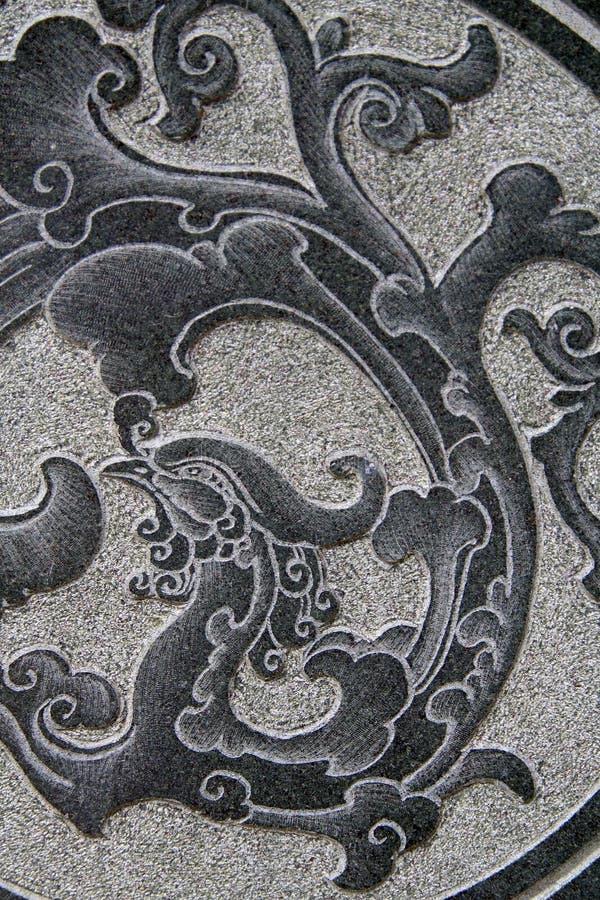 Oriental stone pattern stock photos