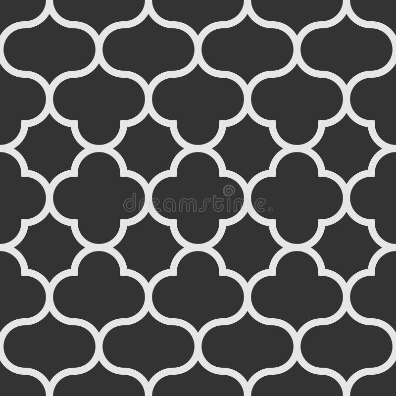 oriental styl deseniowy bezszwowy Monochrom tafluje tło royalty ilustracja