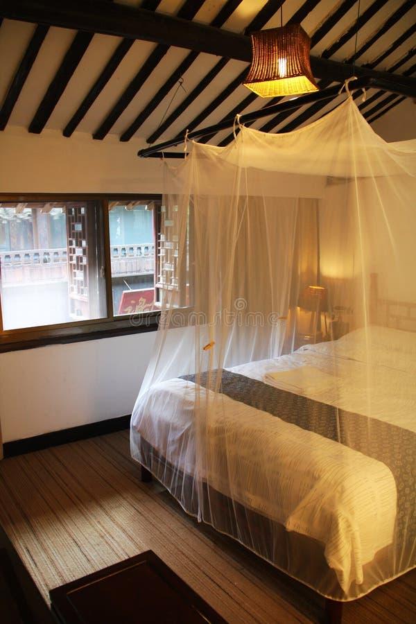 Oriental style bedroom stock photo