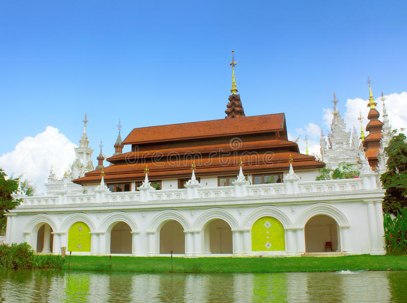 Oriental style buildings. In thailand royalty free stock photo