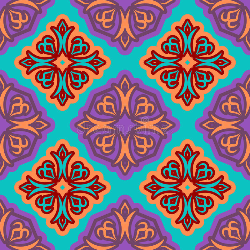 Oriental style Islam seamless pattern. holiday of Ramadan Mubarak background. Arabian decoration texture stock illustration
