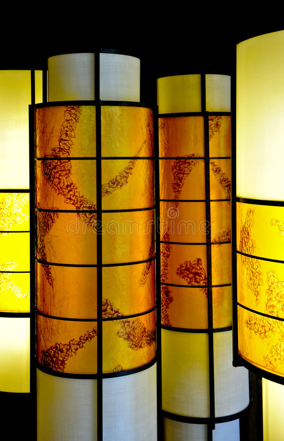 Download Oriental style lamps stock image. Image of shining, yellow - 8004673
