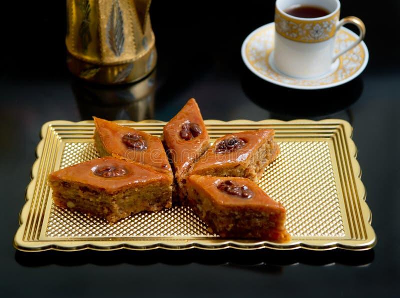 Oriental sweets baklava stock photography
