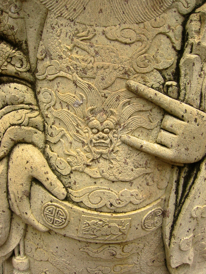 Free Oriental Temple Art Statue Carvings Bangkok Thail Royalty Free Stock Images - 250209