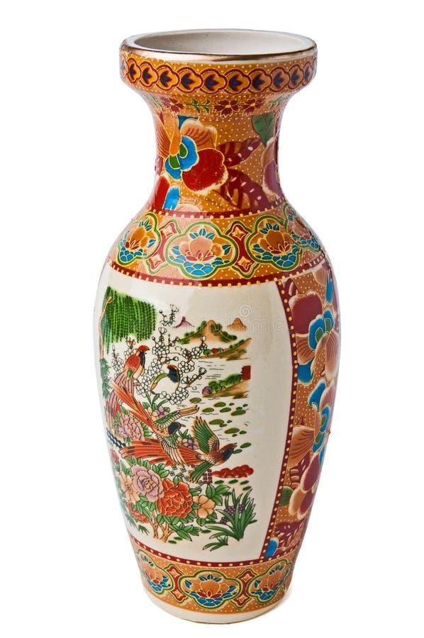 Oriental vase stock photo