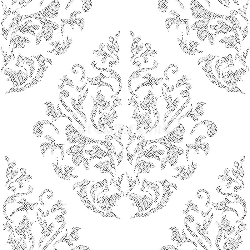 Oriental vector classic colored pattern. Seamless abstract background with repeating elements. Orient background royalty free illustration