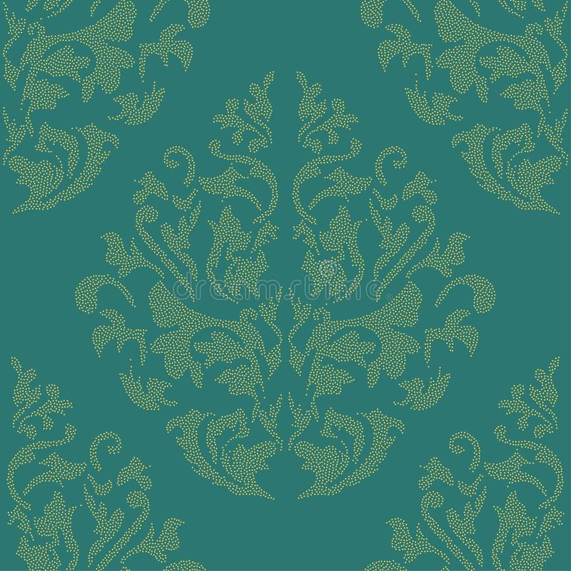 Oriental vector classic colored pattern. Seamless abstract background with repeating elements. Orient background stock illustration