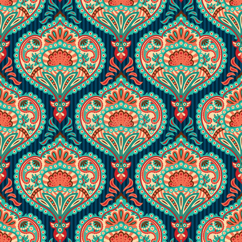 Oriental wallpaper pattern vector illustration