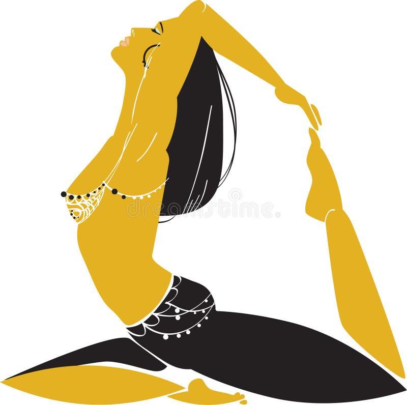 Oriental woman vector illustration