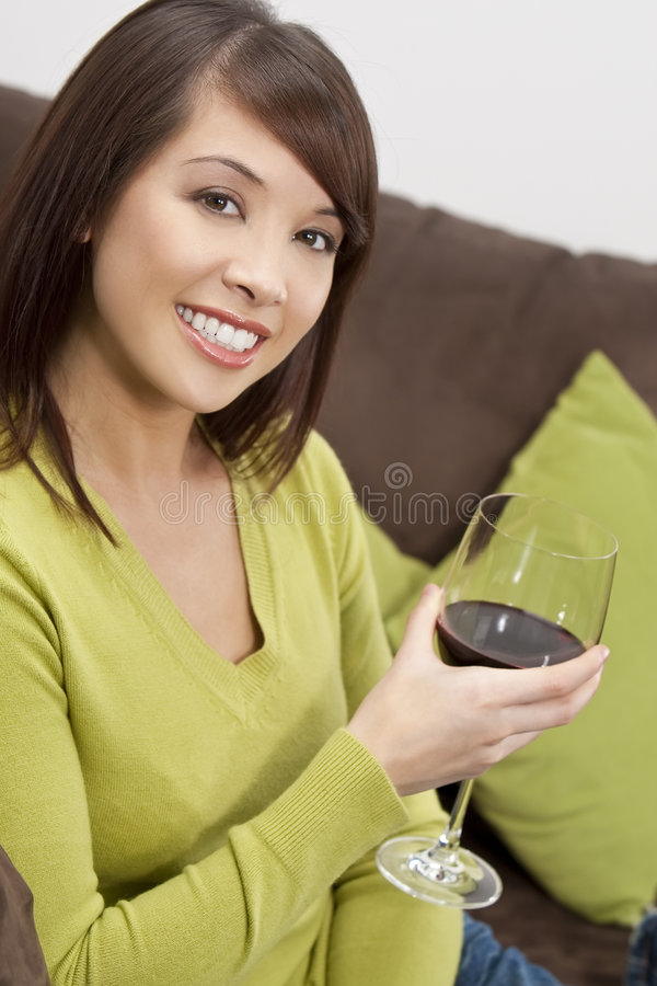 Download Oriental Woman Drinking Wine Stock Photo - Image: 9156508