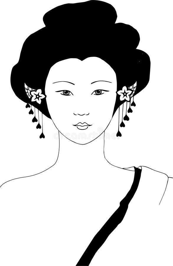 Oriental woman vector vector illustration
