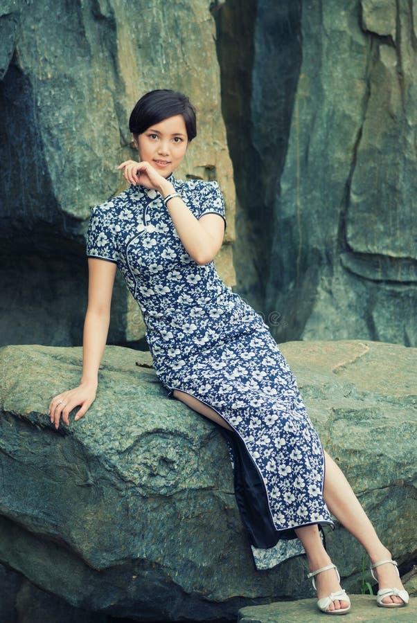 Oriental women wearing cheongsam stock photo image of for Female landscape architects