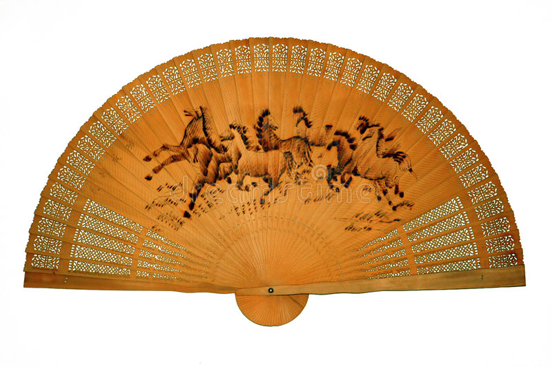 Oriental Wooden Fan. Stock photo of an Oriental Wooden Fan stock photos