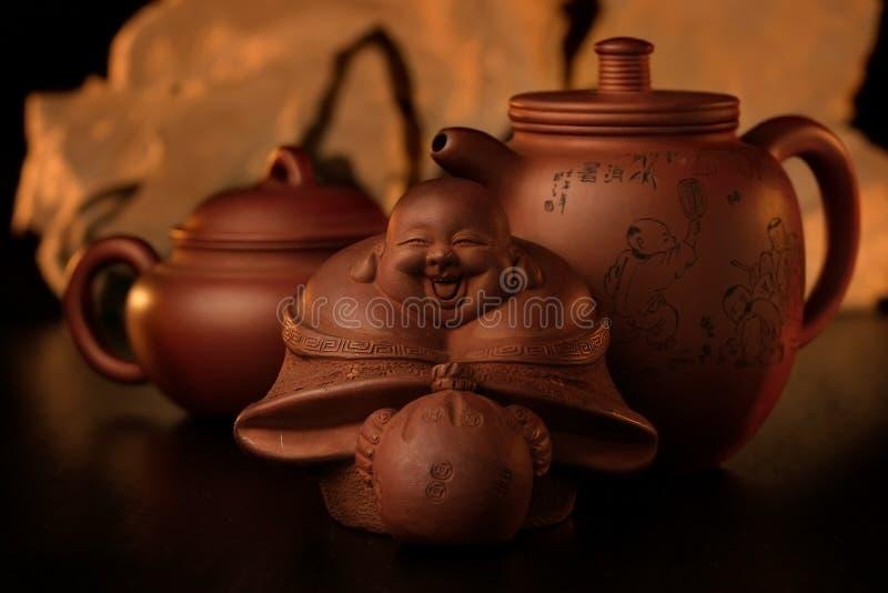 Orientale Tee-stellte 1. ein. lizenzfreie stockfotos