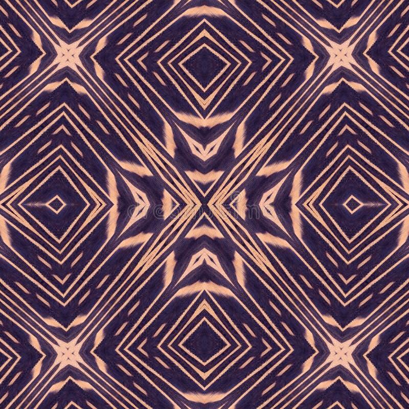 Orientalische abstrakte, nahtlose Tapetenfliesen lizenzfreie abbildung