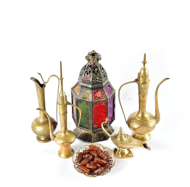 Orientalische Gastfreundschaft Ramadan der arabischen Dekorationen der Weinlese lizenzfreies stockbild
