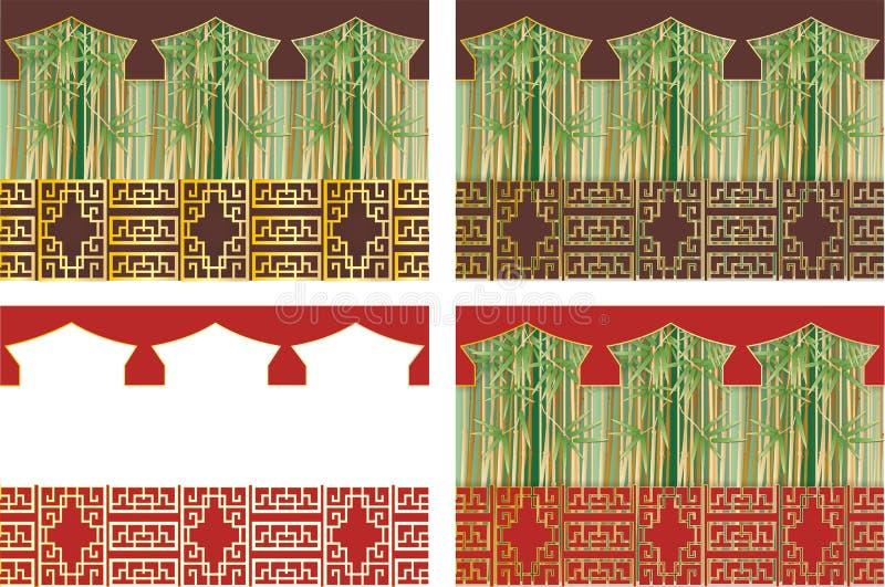 Orientalische Hintergründe vektor abbildung