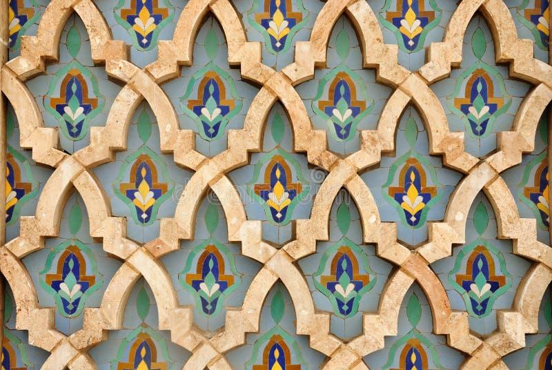Orientalische Mosaikdekoration stockfotos