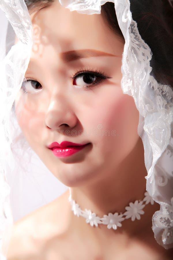 Orientalische Schönheitsbraut lizenzfreies stockfoto
