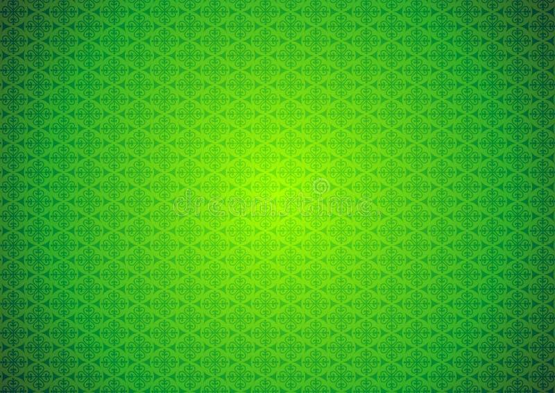 Orientalischer, dekorativer, chinesischer, arabischer, islamischer, grüner Muster-Beschaffenheits-Hintergrund Imlek, Ramadan, Fes vektor abbildung