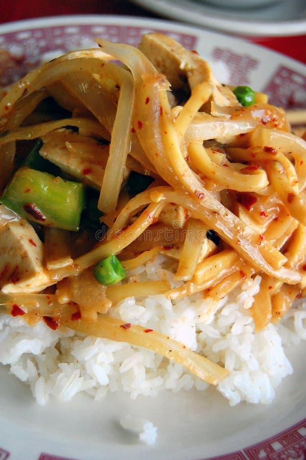 Orientalischer Tofu-Teller stockfotografie
