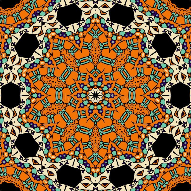 Orientalisches aufwändiges nahtloses Muster Ethnisches endloses stock abbildung