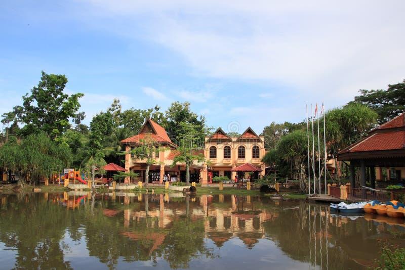 Orientalisches Dorf in Langkawi lizenzfreie stockbilder