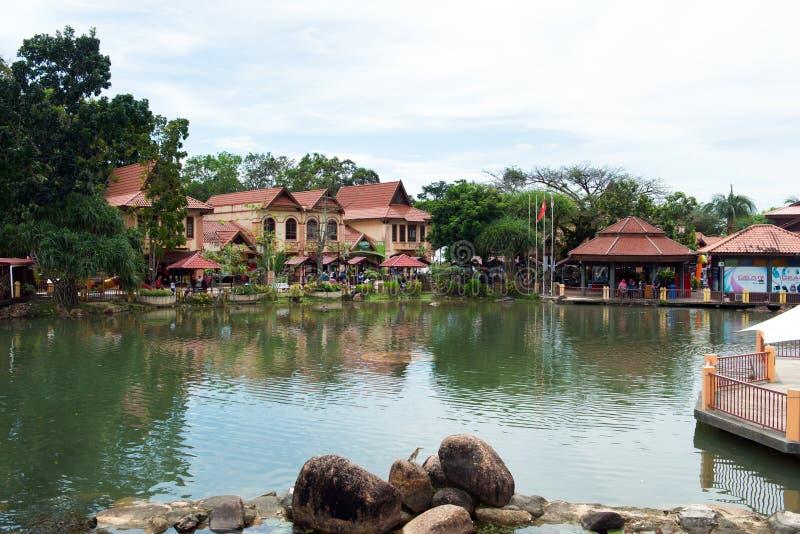 Orientalisches Dorf in Langkawi-Insel, Malaysia lizenzfreie stockfotos