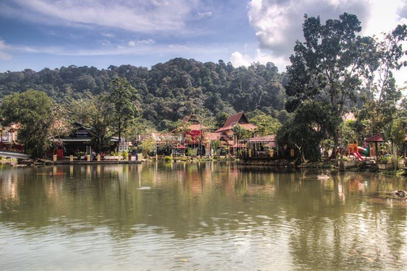 Orientalisches Dorf Langkawis in Malaysia lizenzfreie stockfotos