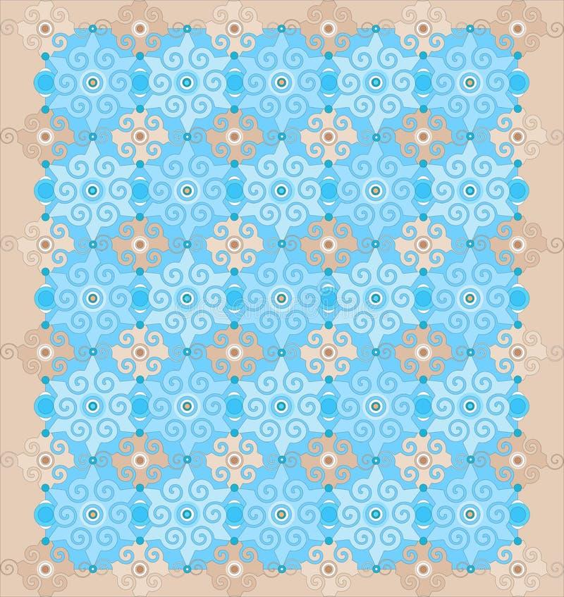 Orientalisches muster vektor abbildung illustration von orientalisch 20183223 - Tapete orientalisch blau ...
