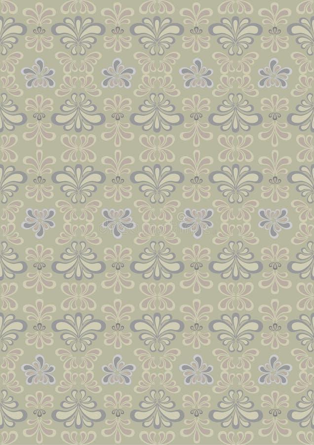 Orientalisches Muster der Kurven im Hintergrund w stock abbildung