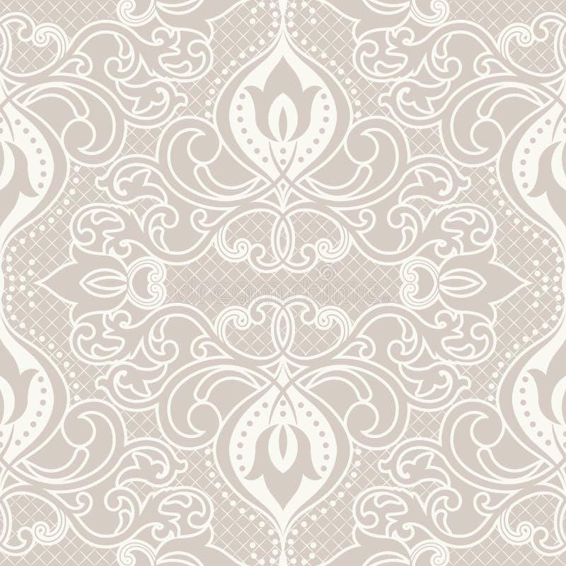 Orientalisches Muster mit Damast, Arabeske und Florenelementen vektor abbildung