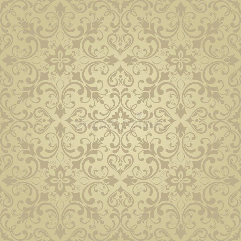 Orientalisches Muster mit Damast, Arabeske und Florenelementen stock abbildung