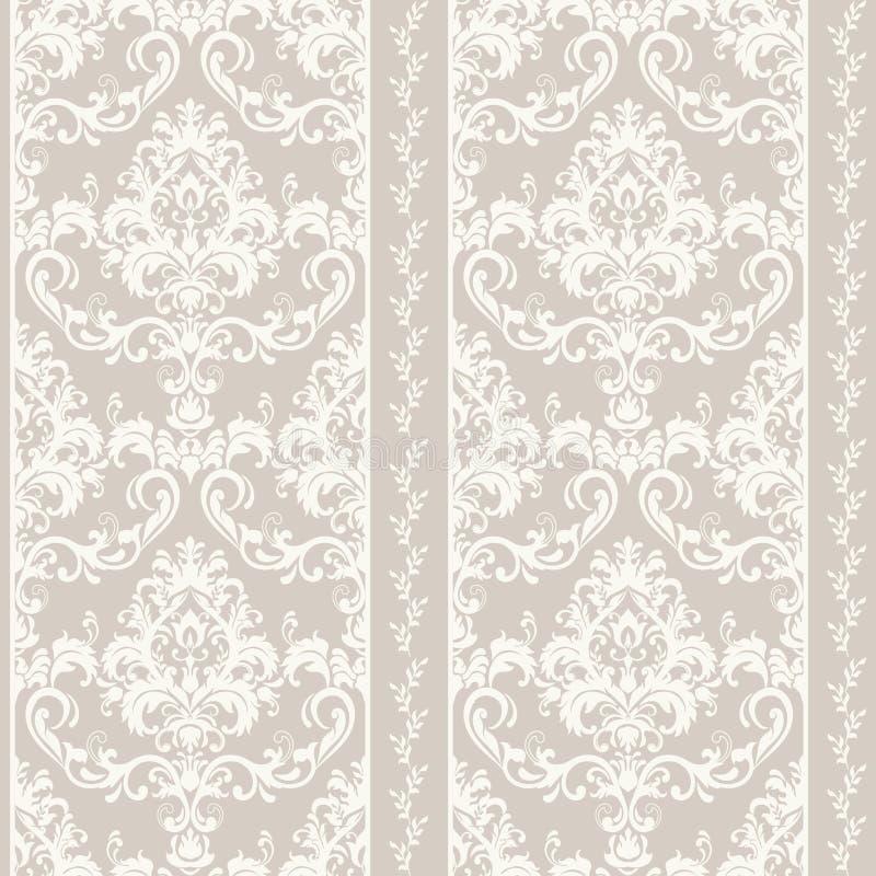 Orientalisches Muster mit Damast, Arabeske und Florenelementen Nahtloser abstrakter Hintergrund vektor abbildung