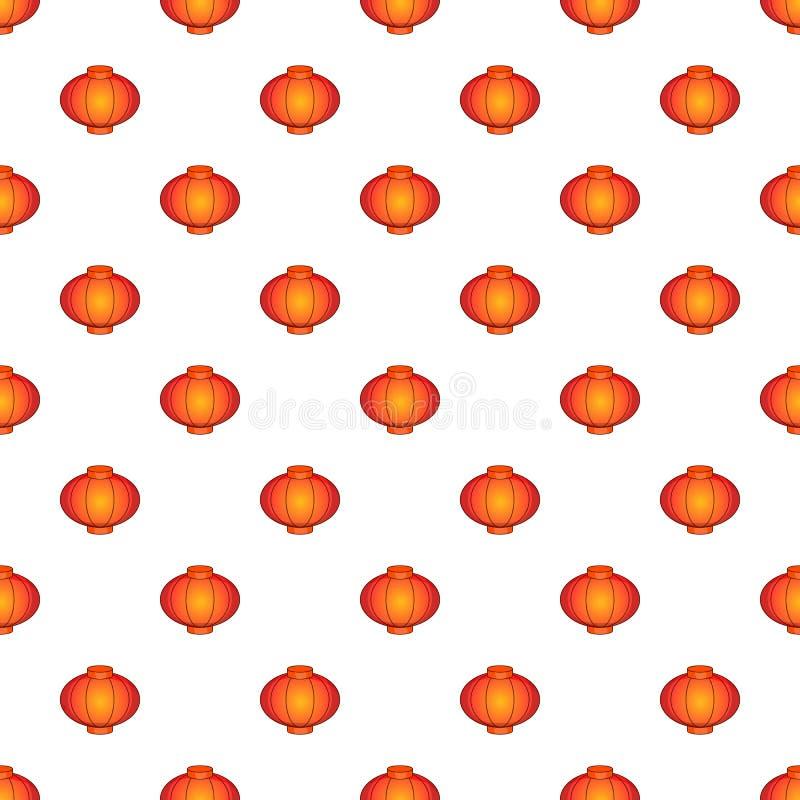 Orientalisches rotes Laternenmuster, Karikaturart lizenzfreie abbildung