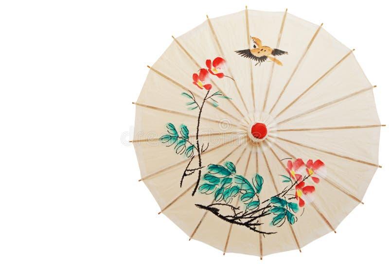 Orientalisches Umberlla getrennt lizenzfreies stockfoto