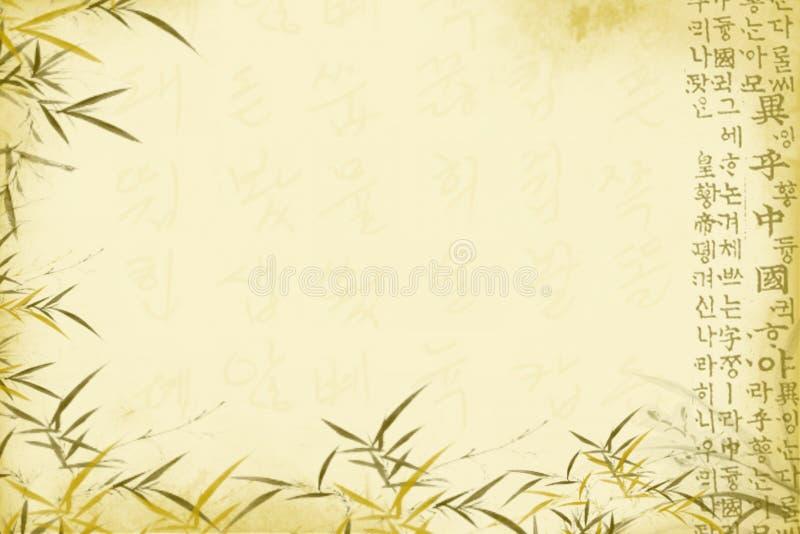 orientalisk bakgrund royaltyfri illustrationer