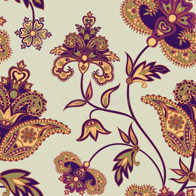 Orientalisk bakgrund för abstrakt blom- geomatric modellblomma vektor illustrationer