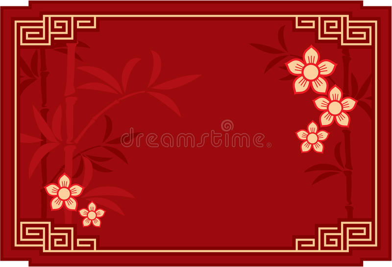 orientalisk bakgrundskines royaltyfri illustrationer