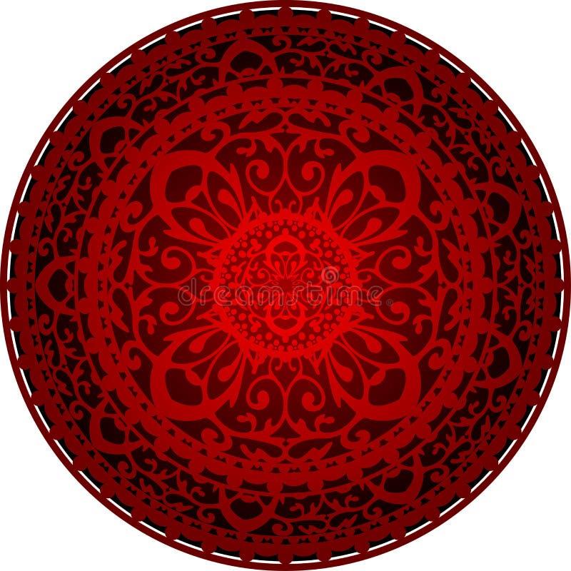 Orientalisk filt royaltyfri illustrationer