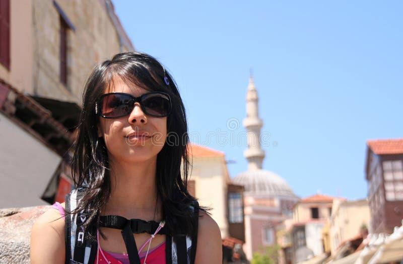 orientalisk flicka arkivbild