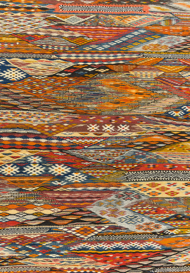 Orientalisk mattbakgrundstextur royaltyfri foto