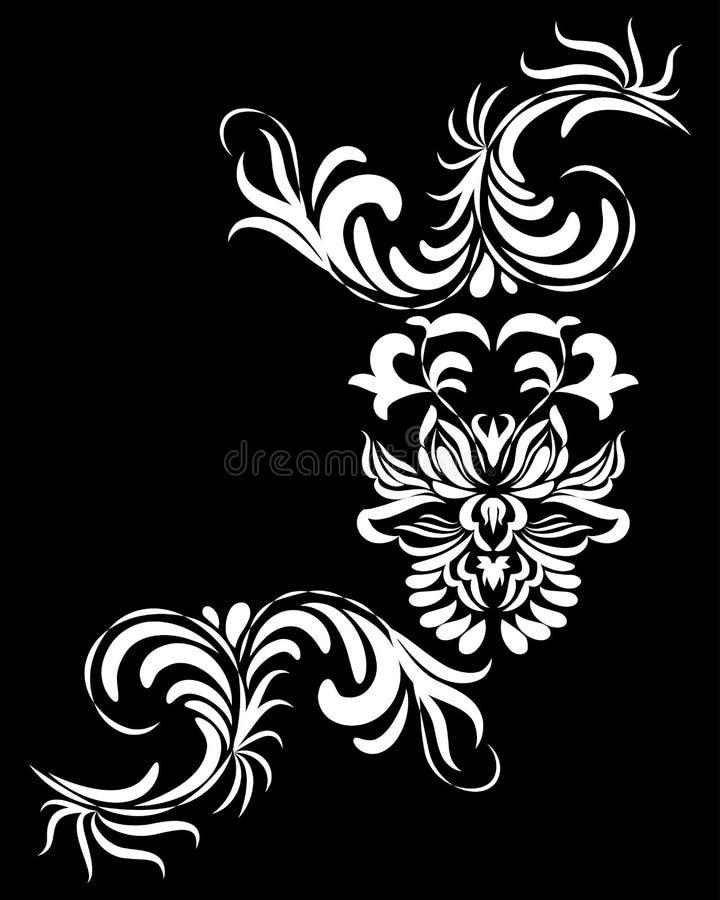 orientalisk modell för blomma vektor illustrationer