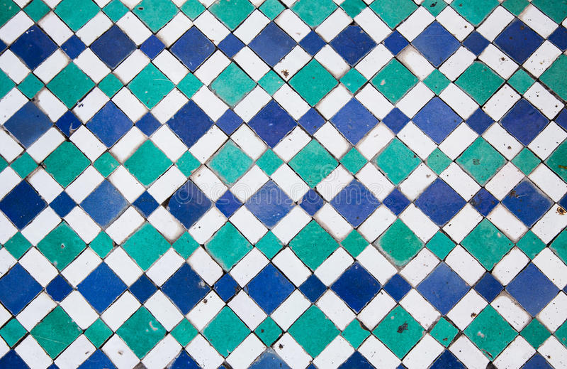 Orientalisk mosaik i Marocko, Nordafrika arkivfoton