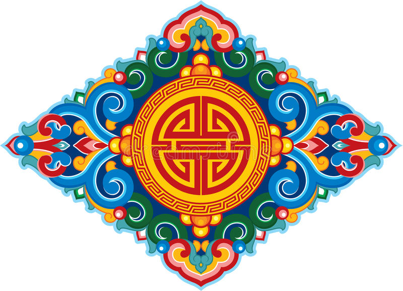 orientalisk prydnad vektor illustrationer