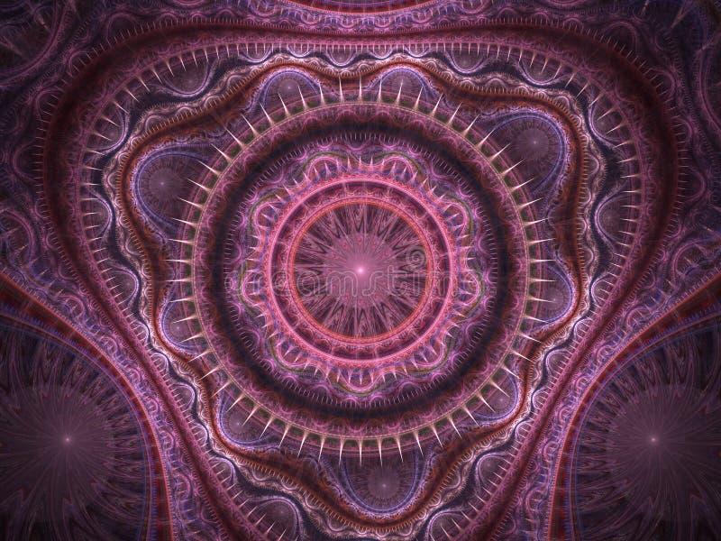 orientalisk rosa filt vektor illustrationer