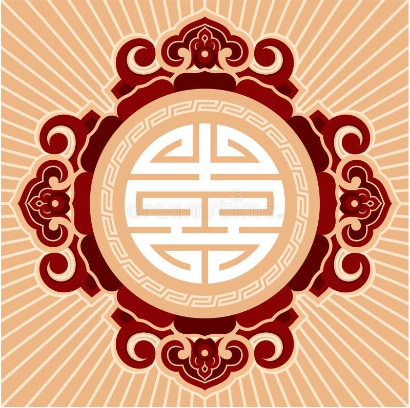 orientalisk rosettezen för sammansättning royaltyfri illustrationer